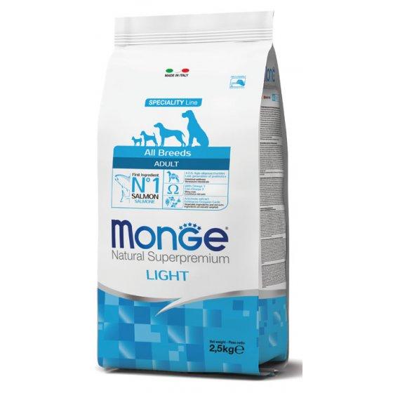 Monge Dog Speciality Line All Breeds Adulto Light - Salmão & Arroz
