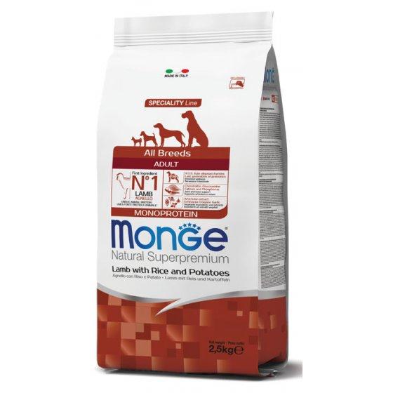 Monge Dog Speciality Line All Breeds Adulto - Cordeiro, Arroz e Batatas