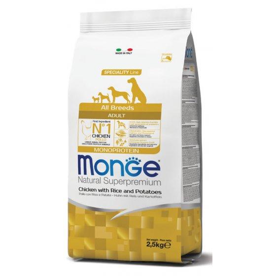 Monge Dog Speciality Line All Breeds Adulto - Frango, Arroz e Batatas