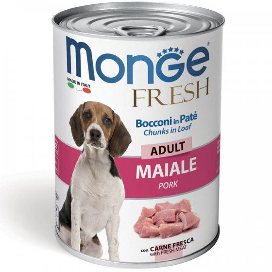 Monge Fresh Cão Adulto - Patê com Pedaços de Porco