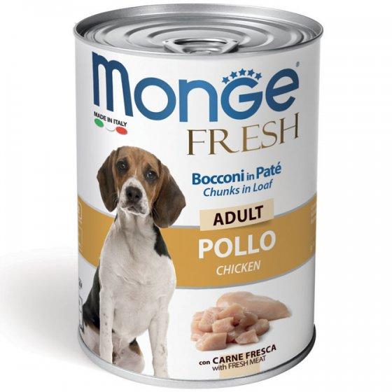 Monge Fresh Cão Adulto - Pedaços em Mousse Frango