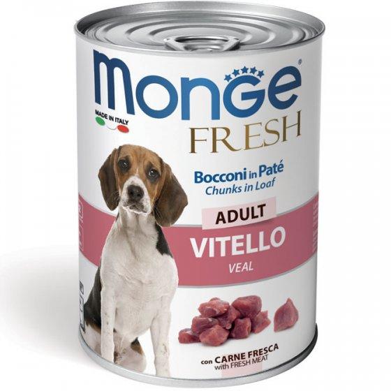 Monge Fresh Cão Adulto - Pedaços em Mousse Vitela