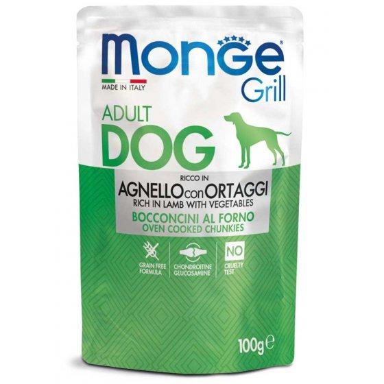 Monge Grill Cão Adulto - Pedaços com Cordeiro e Vegetais