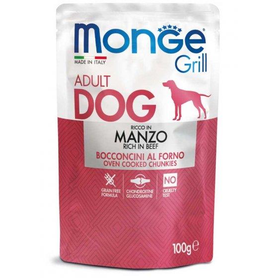Monge Grill Cão Adulto - Pedaços com Vaca