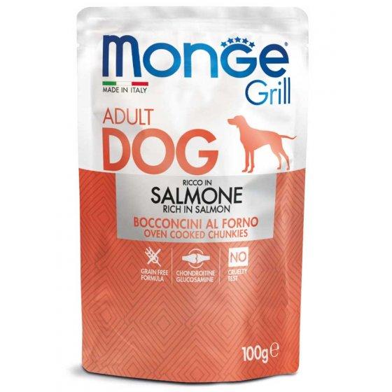 Monge Grill Cão Adulto - Pedaços com Salmão