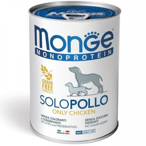 Monge Monoprotein Cão Adulto - Mousse Frango
