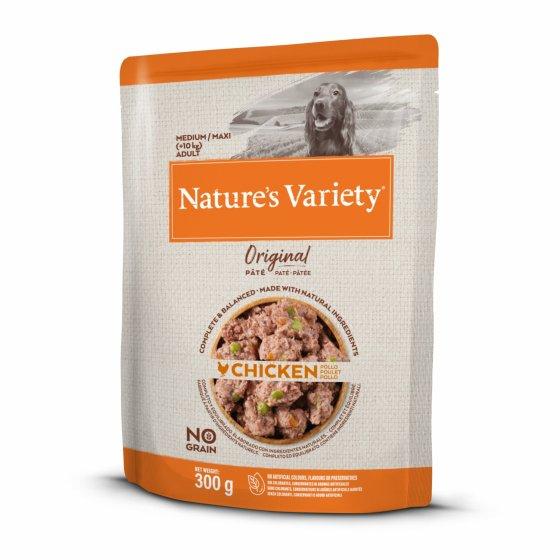 Nature's Variety Original No Grain Patê Cão Adulto Med/Maxi - Frango