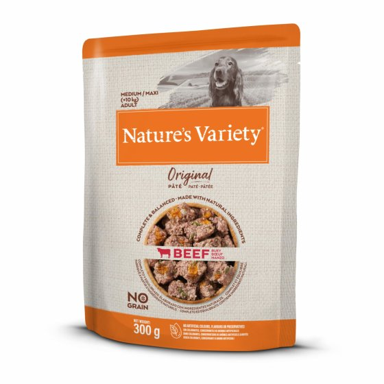 Nature's Variety Original No Grain Patê Cão Adulto Med/Maxi - Vaca