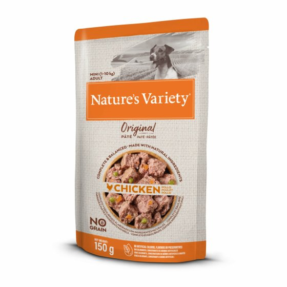 Nature's Variety Original No Grain Patê Cão Adulto Mini - Frango