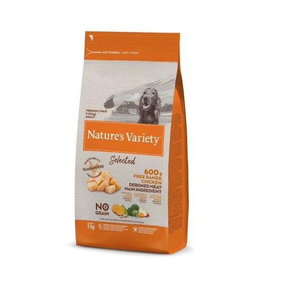 Nature's Variety Selected No Grain Cão Adulto Med/Maxi - Frango do Campo