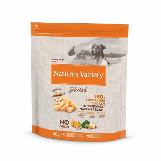 Nature's Variety Selected No Grain Cão Adulto Mini- Frango do Campo