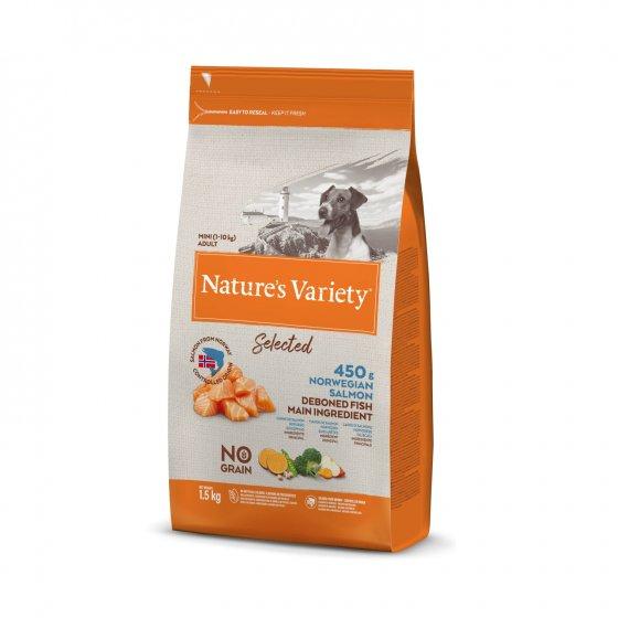 Nature's Variety Selected No Grain Cão Adulto Mini- Salmão da Noruega