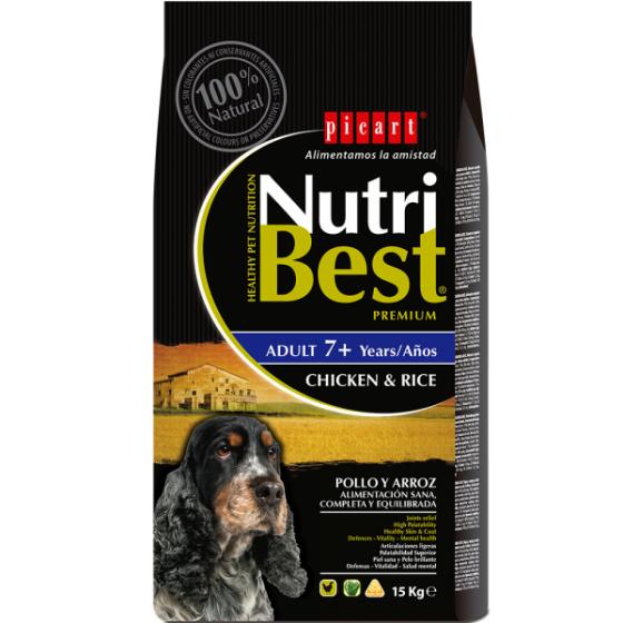 PICART Nutribest Premium Cão - Adult 7+