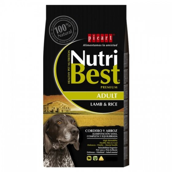 PICART Nutribest Cão Adulto - Cordeiro & Arroz