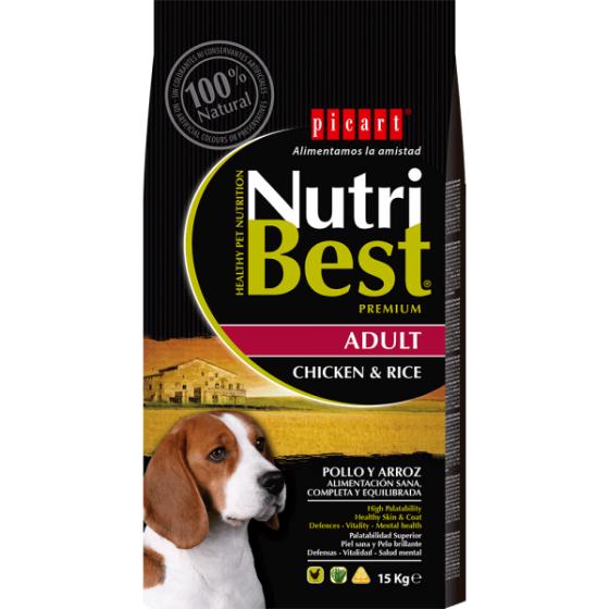 PICART Nutribest Cão Adulto - Frango & Arroz
