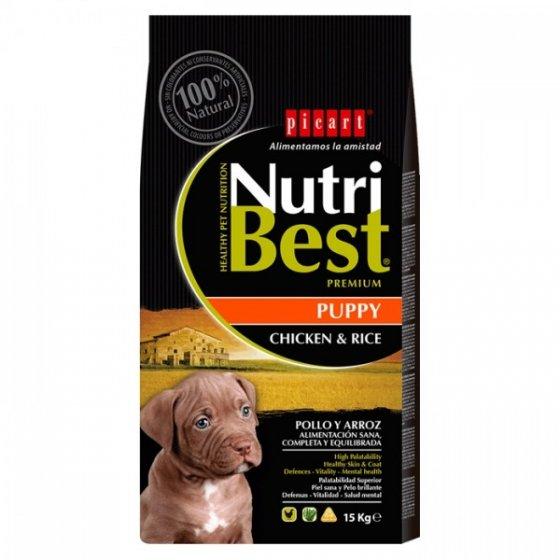 PICART Nutribest Premium Cão Puppy - Frango & Arroz