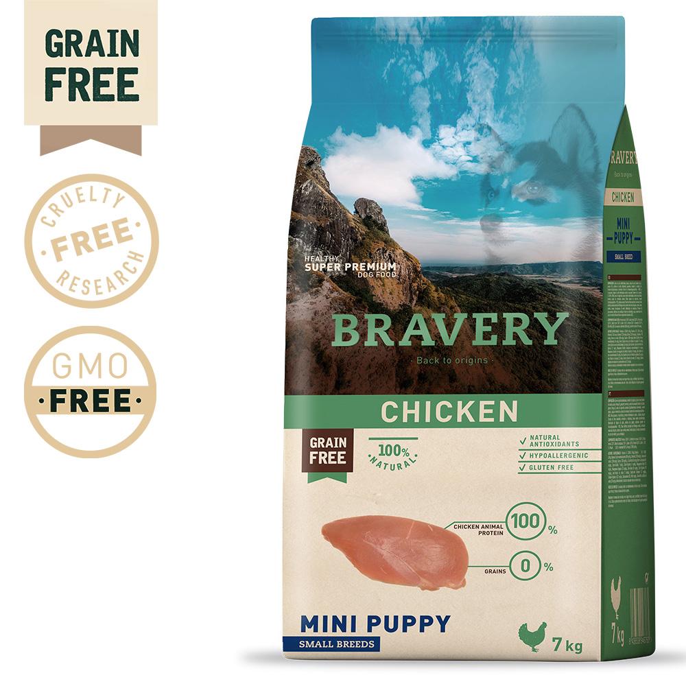 BRAVERY Grain Free Puppy Mini Chicken
