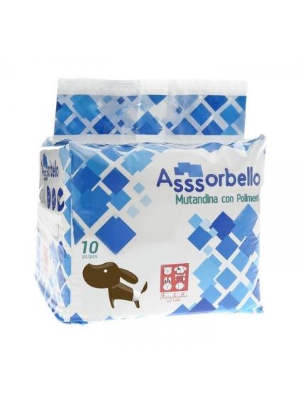 FERRIBIELLA Fraldas com Polímeros Assorbello - Cadela 10Un