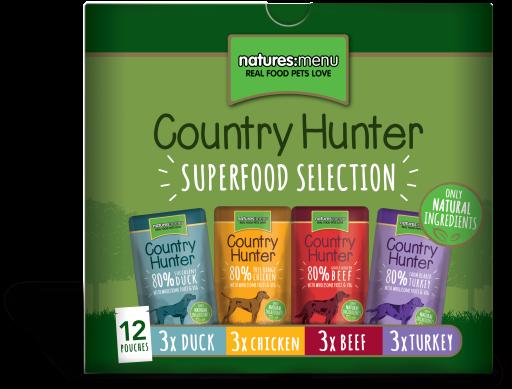 NATURES MENU Country Hunter Cão Saquetas Multipack 12 x 150 g
