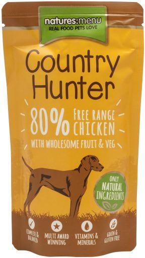 NATURES MENU Country Hunter Cão  Saqueta Frango