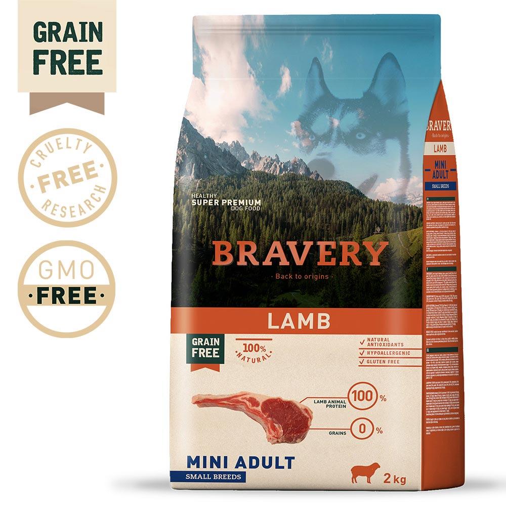 BRAVERY Grain Free Adult Mini Lamb
