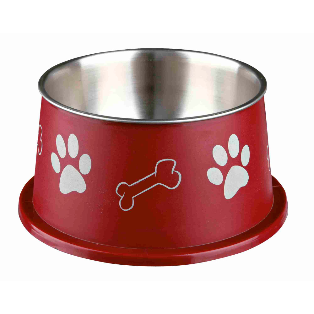 TRIXIE Gamela Inox/Plástico para Cães Orelhas Grandes - Ø 19 cm