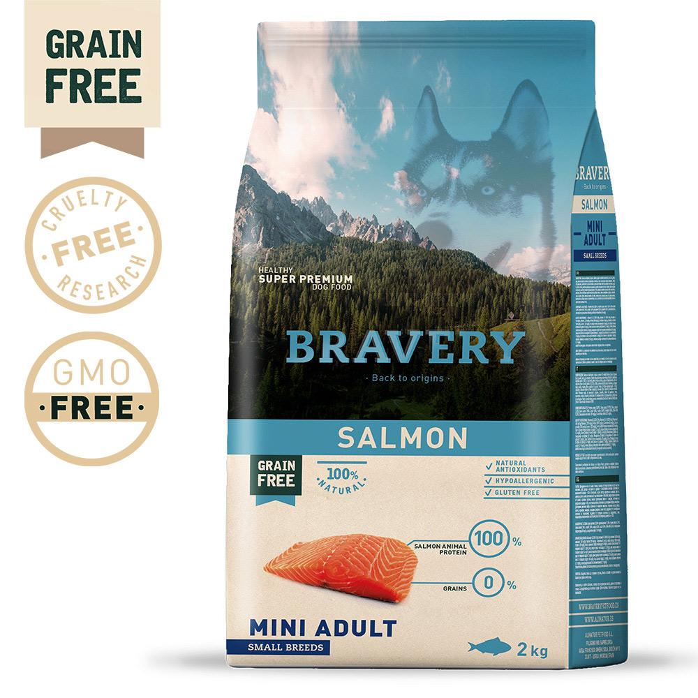 BRAVERY Grain Free Adult Mini Salmon