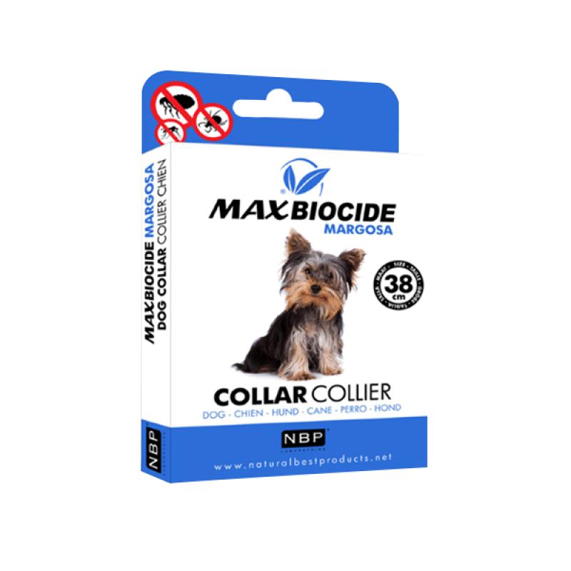 MAX BIOCIDE Coleira Antiparasitária Natural - 38cm