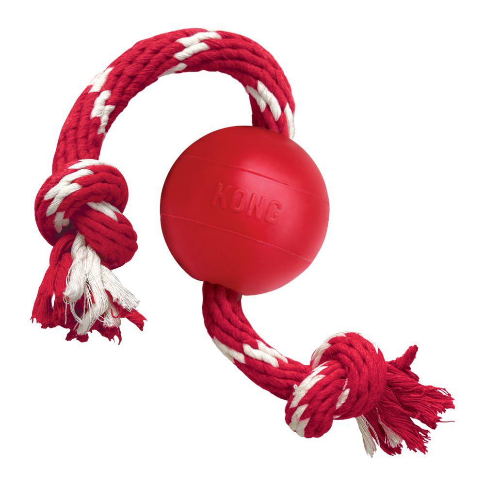 Kong Red Rubber Ball c/ Corda