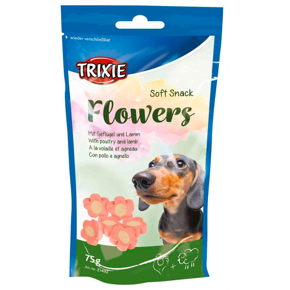 TRIXIE Flowers - Snacks com Cordeiro e Frango 75 Gr