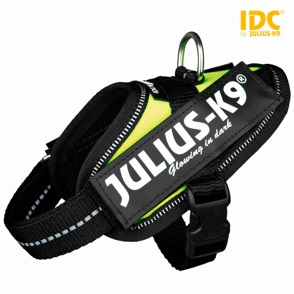 JULIUS K-9 Peitoral IDC - Amarelo Neon