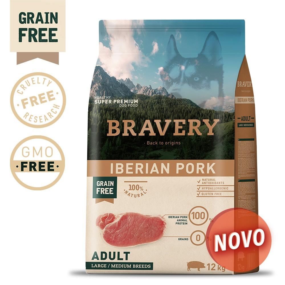 BRAVERY Grain Free Adult Medium-Large Iberian Pork