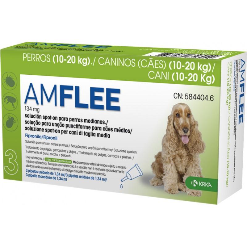 AMFLEE Spot On Cão 10-20 Kg 30 Pipetas