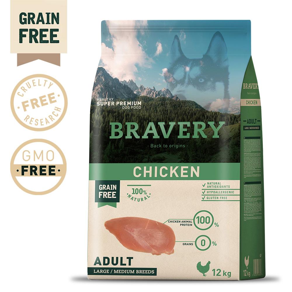 BRAVERY Grain Free Adult Medium-Large Chicken