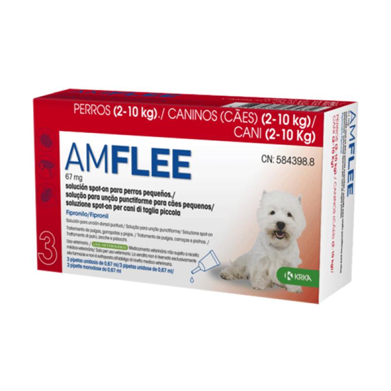 AMFLEE Spot On Cão 2-10 Kg 30 Pipetas