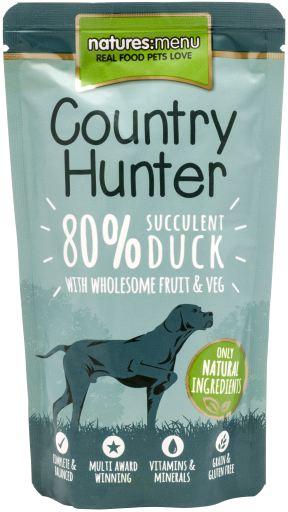 NATURES MENU Country Hunter Cão Saqueta Pato