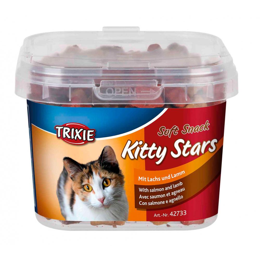 TRIXIE Soft Snacks Kitty Stars com Salmão e Cordeiro 140 Gr