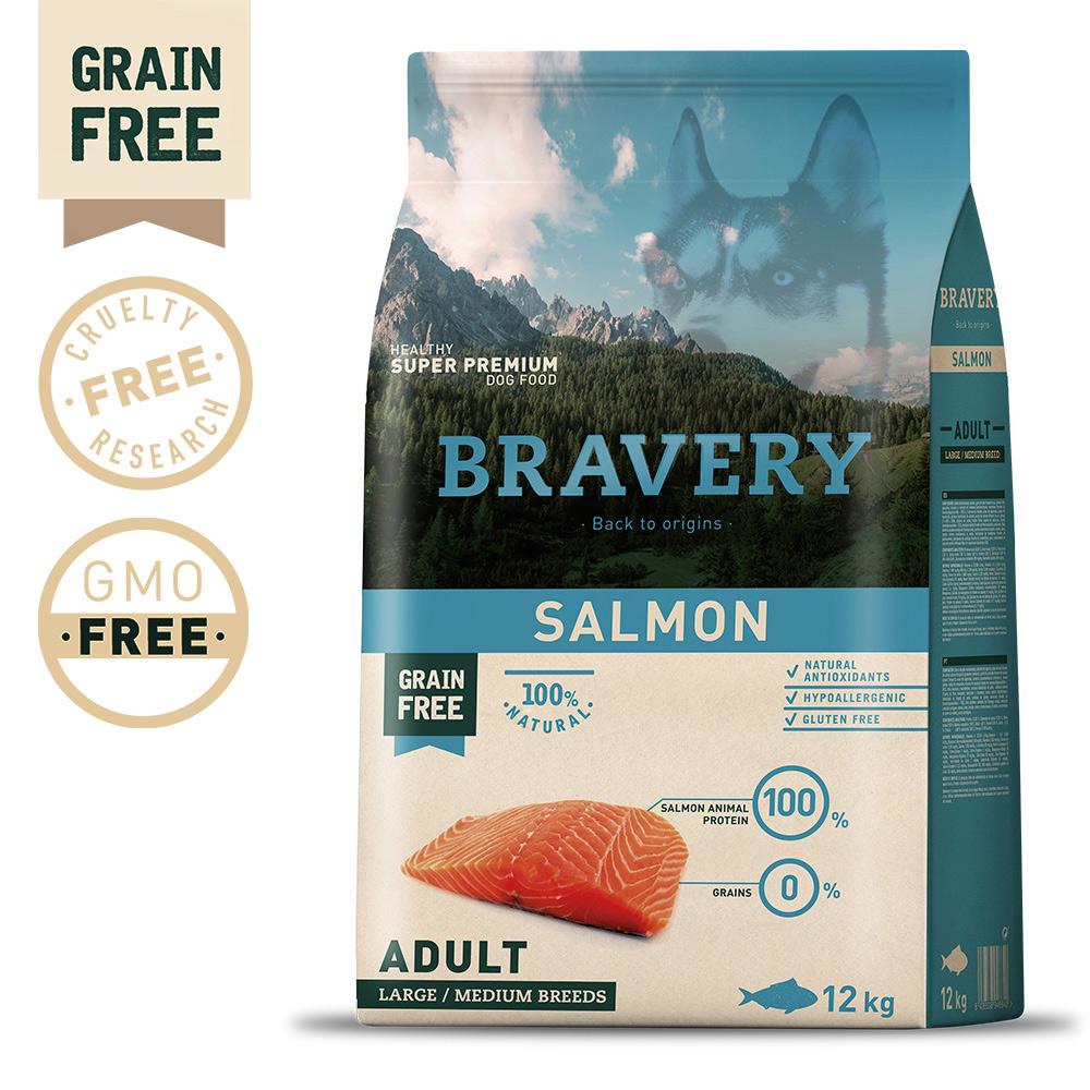 BRAVERY Grain Free Adult Medium-Large Salmon