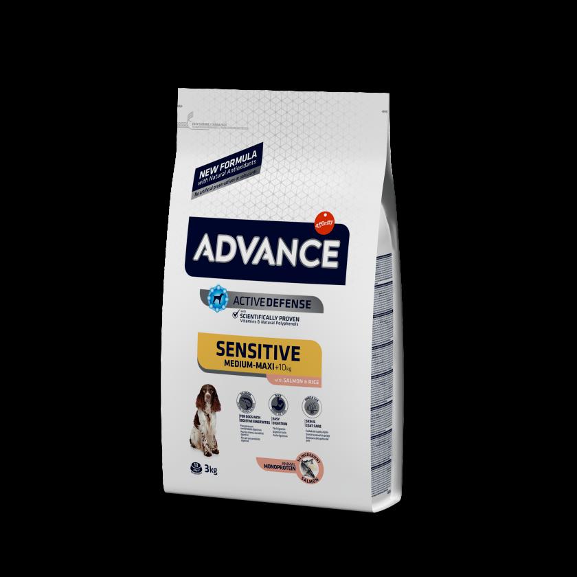 Advance Medium-Maxi Sensitive Salmão e Arroz