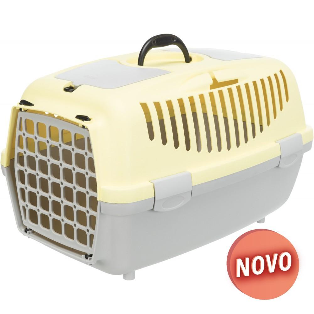 TRIXIE Transportadora Capri - Cinza Claro/Amarelo