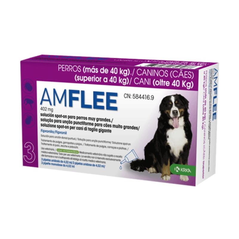 AMFLEE Spot On Cão +40 Kg 30 Pipetas