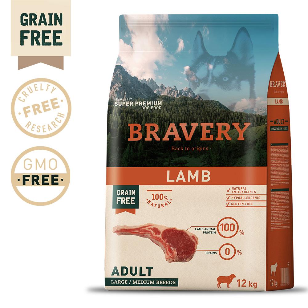 BRAVERY Grain Free Adult Medium-Large Lamb
