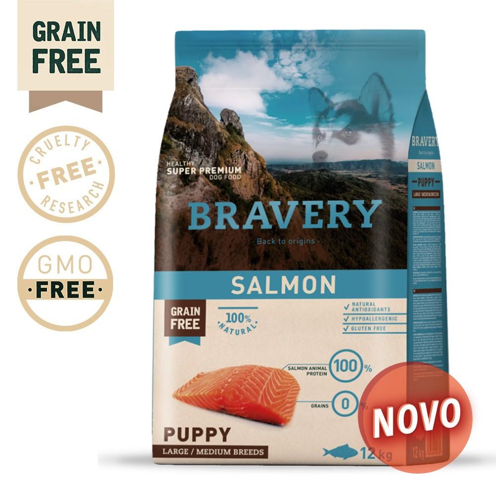 BRAVERY Grain Free Puppy Medium-Large Salmon