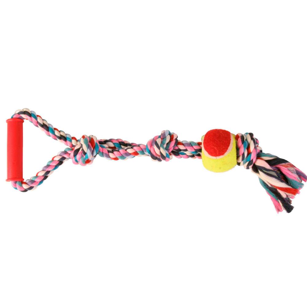 TRIXIE Corda Multicolorida com Pega e Bola Ténis