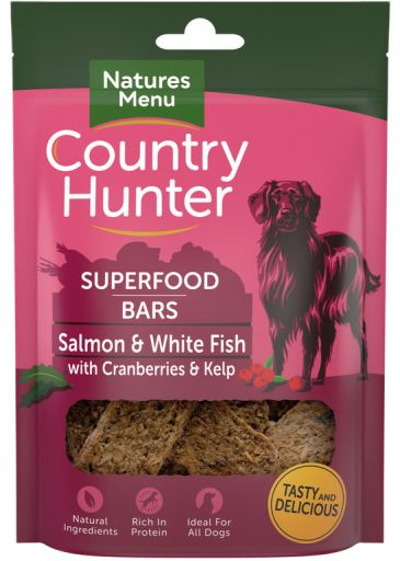 NATURES MENU Country Hunter Barra Superfood Salmão e Peixe Branco c/ Arandos e Alga Marinha