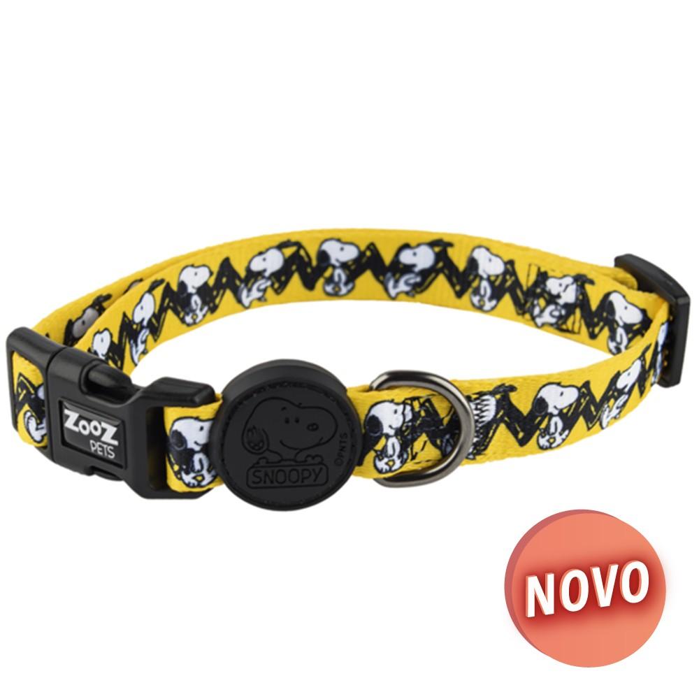 SNOOPY Coleira - Charlie Brown Amarelo
