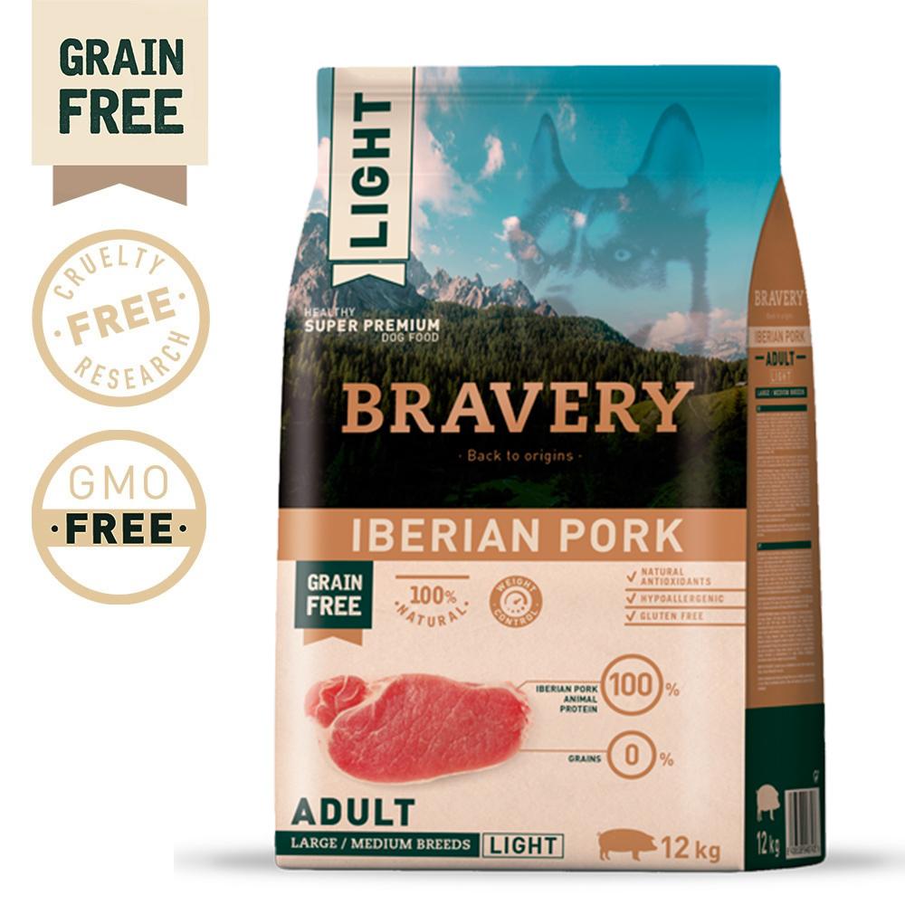 BRAVERY Grain Free Adult Medium-Large Iberian Pork Light