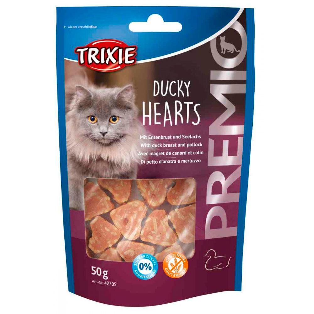 TRIXIE Premio - Hearts com Peito Pato e Peixe 50 Gr