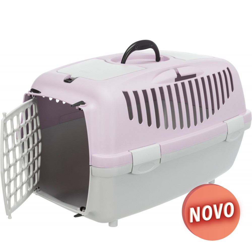 TRIXIE Transportadora Capri - Cinza Claro/Lilás Claro