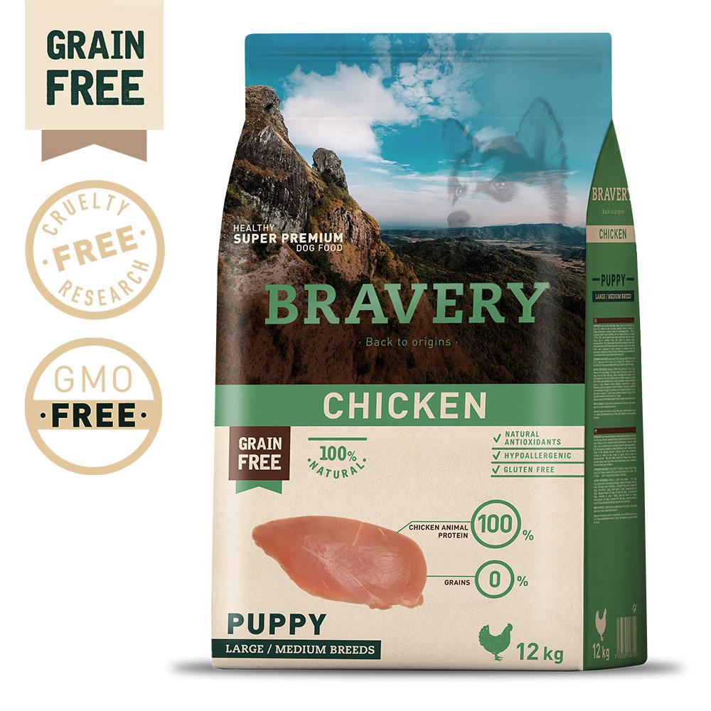 BRAVERY Grain Free Puppy Medium-Large Chicken